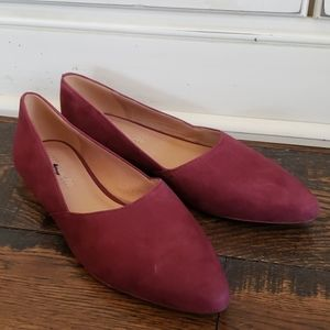 Madewell The Lizbeth Flat in Suede J8726